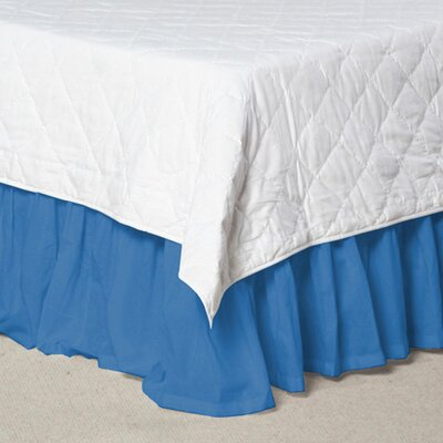Solid Cotton Bed Skirt Size: Queen