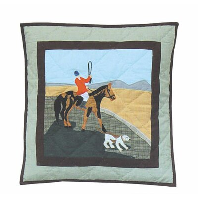 Fox Hunt Cotton Throw Pillow