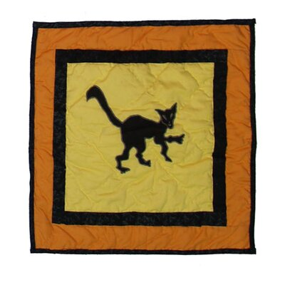 Halloween Cat Cotton Throw Pillow