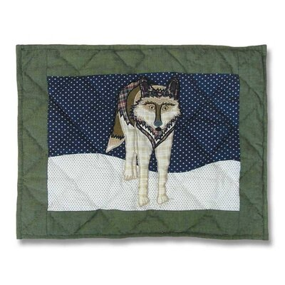 Wolf Cotton Boudoir/Breakfast Pillow