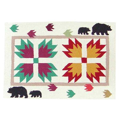 Bears Paw Area Rug Rug Size: Rectangle 2 x 3