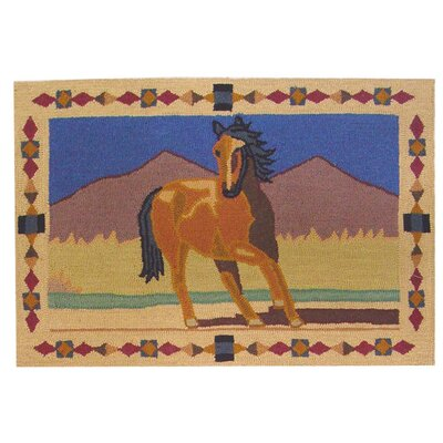 Wild Horses Area Rug Rug Size: Rectangle 2 x 3