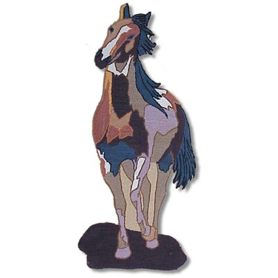 Wild Horses Single Horse Area Rug Rug Size: 15 x 31