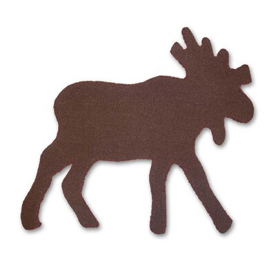 Cedar Trail Brown Moose Area Rug Rug Size: Novelty 211 x 29