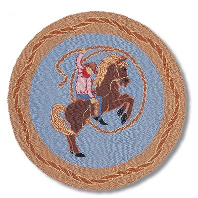 Cowboy Rodeo Kids Area Rug Rug Size: Round 3
