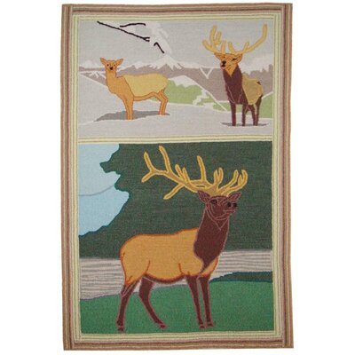 Elk Area Rug Rug Size: Rectangle 29 x 44