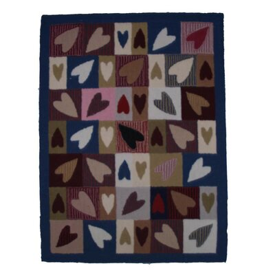 Primitive Hearts Area Rug Rug Size: Rectangle 310 x 51