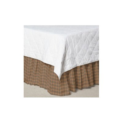 Dark Brown Plaid Bed Skirt / Dust Ruffle Size: Queen