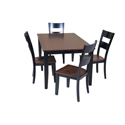 Haan 5 Piece Dining Set with Butterfly Leaf Table