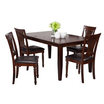 Haan 5 Piece Wood Dining Set