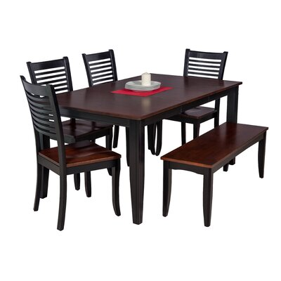 Haan Modern 6 Piece Wood Dining Set