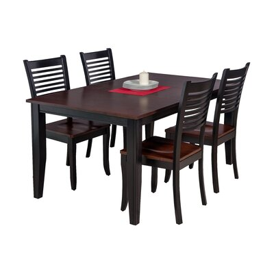 Haan 5 Piece Dining Set with Ladder Back Chair