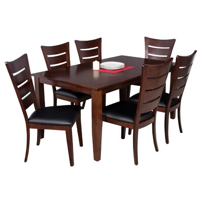 Haan 7 Piece Solid Wood Dining Set