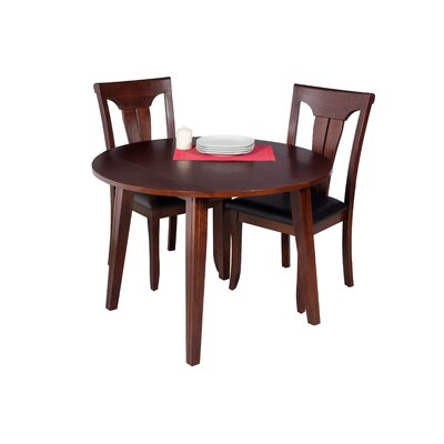Dinh Modern 3 Piece Drop Leaf Dining Set