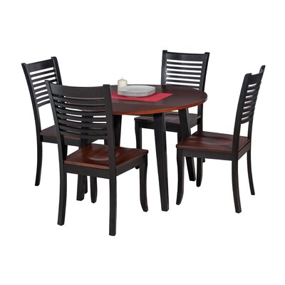 Dinh Modern 5 Piece Drop Leaf Dining Set