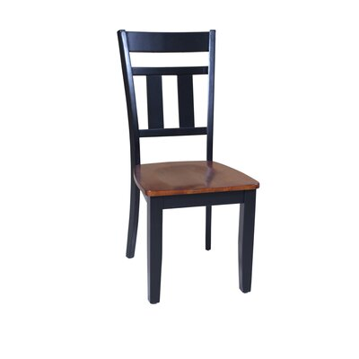 Jesenof Slat Back Solid Wood Dining Chair Set of: Set of 4