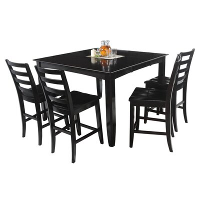 Palm Springs 5 Piece Counter Height Dining Set Color: Cappuccino