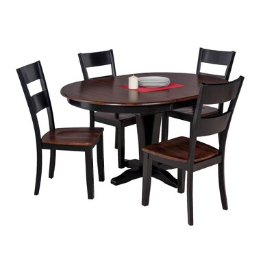 Maryrose 5 Piece Dining Set with Butterfly Leaf Table