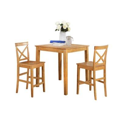 Ashraf 3 Piece Counter Height Dining Set