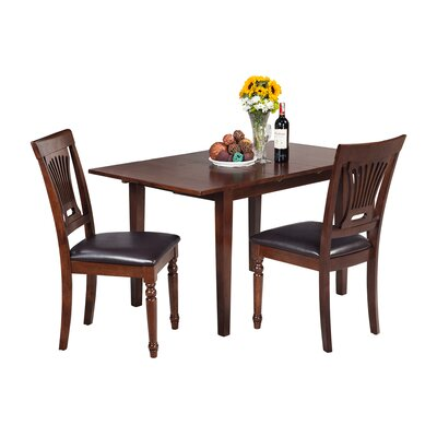 Assante 3 Piece Dining Set with Rectangular Table