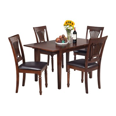 Assante 5 Piece Dining Set with Butterfly Leaf Table
