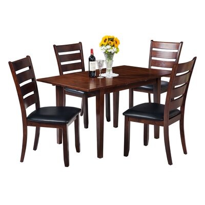 Assante Modern 5 Piece Dining Set with Butterfly Leaf Table