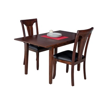 Assante 3 Piece Dining Set with Butterfly Leaf Table