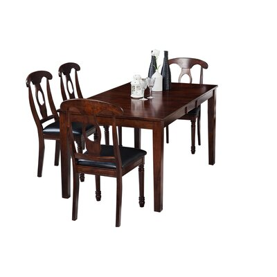 Downieville-Lawson-Dumont 5 Piece Wood Dining Set