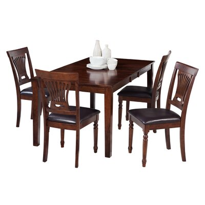 Downieville-Lawson-Dumont 5 Piece Dining Set with Curved Back Chair