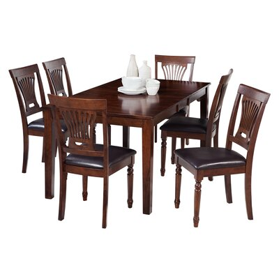 Downieville-Lawson-Dumont 7 Piece Dining Set with Rectangular Table