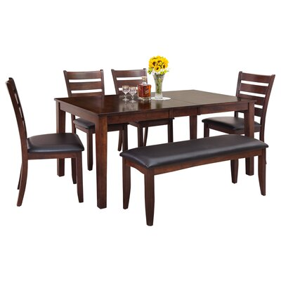 Downieville-Lawson-Dumont Modern 6 Piece Wood Dining Set