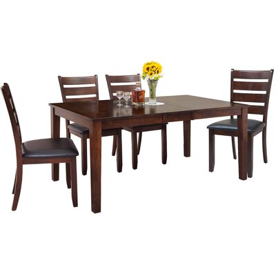 Downieville-Lawson-Dumont Traditional 5 Piece Wood Dining Set