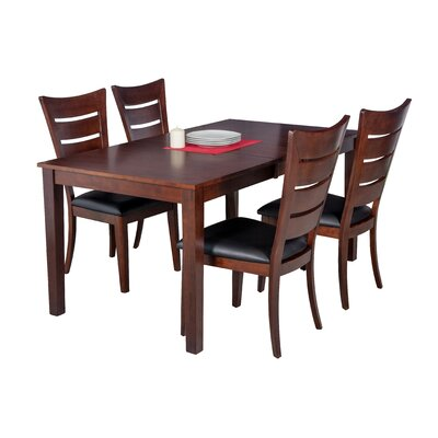 Downieville-Lawson-Dumont 5 Piece Solid Wood Dining Set