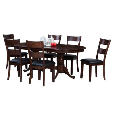 Doretha 7 Piece Wood Dining Set