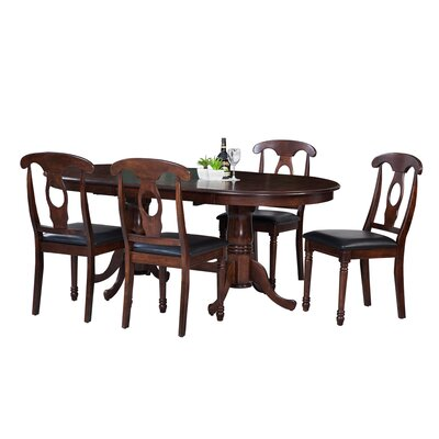 Doretha Traditional 5 Piece Solid Wood Dining Set