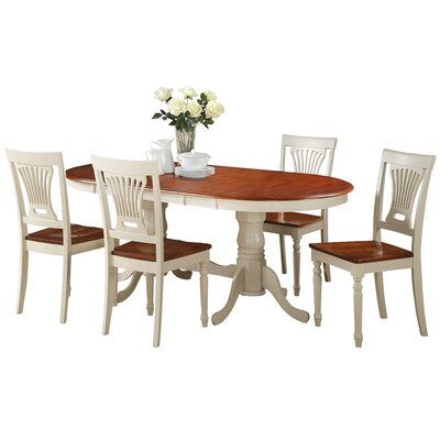 Doretha 5 Piece Dining Set with Dual Pedestal Table