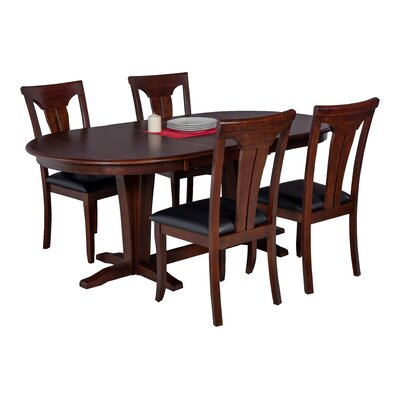 Doretha 5 Piece Dining Set with Curved Back Chair