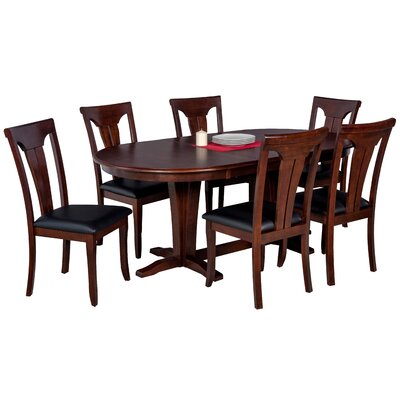 Doretha 7 Piece Dining Set with Dual Pedestal Table
