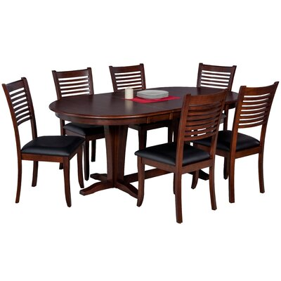 Doretha 7 Piece Wood Dining Set with Dual Pedestal Table
