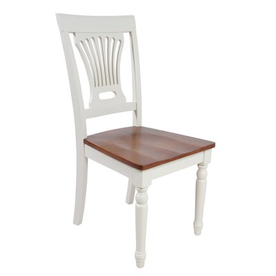 Arrow Slat Back Solid Wood Dining Chair Set of: Set of 2