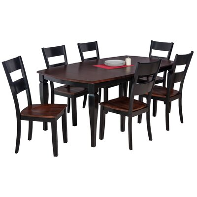 Besse Traditional 7 Piece Wood Dining Set