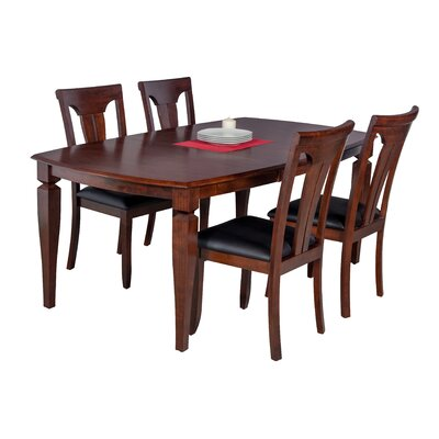 Besse 5 Piece Breakfast Nook Dining Set
