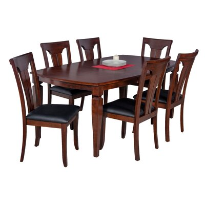 Besse 7 Piece Dining Set with Curved Back Chair