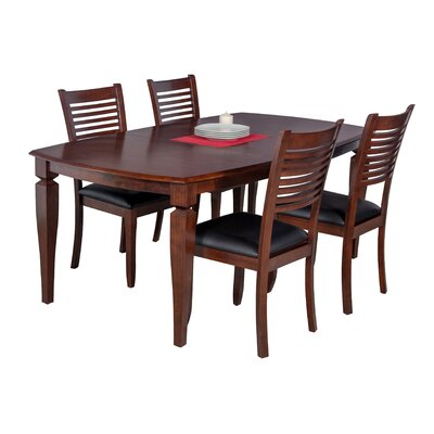 Besse Dining Set with Ladder Back Chair