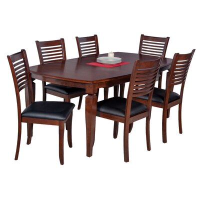 Besse 7 Piece Wood Dining Set