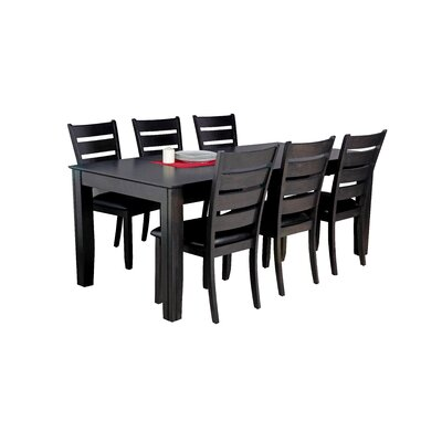 Avangeline Traditional 7 Piece Dining Set