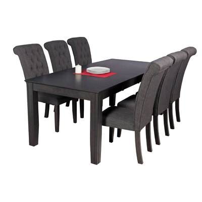 Avangeline Traditional 7 Piece Wood Dining Set