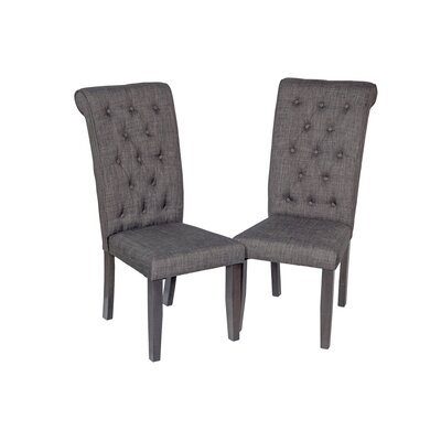 Al Upholstered Dining Chair Upholstery Color: Dark Gray