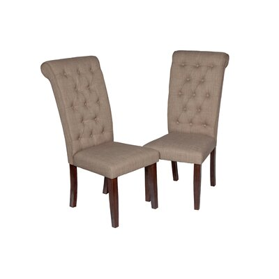 Al Upholstered Dining Chair Upholstery Color: Espresso