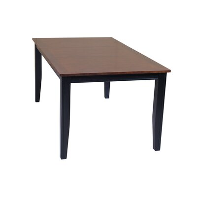 Haan Dining Table Color: Light Cherry/Black